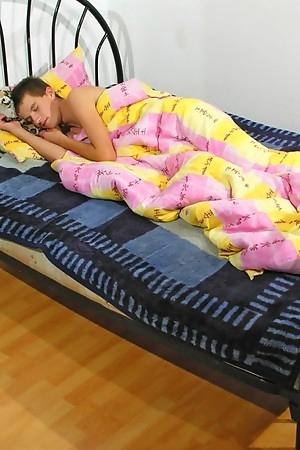 Cute dream boy Jamie in bed